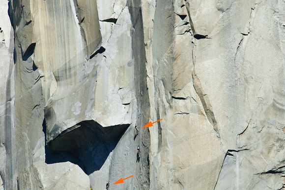 Climbers on El Capitan