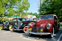 1934 Ford Sedan, 1934 Ford Convertible, and1938 Lincoln Zephyr